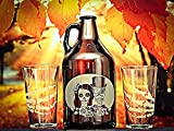 Wedding gift, Sugar Skull, Beer Growler, Beer ceremony, engraved beer growler, Wedding gift, Beer wedding, Gift for couple, Día de Muertos, Fall wedding, Sugar skulls, Wedding gifts,