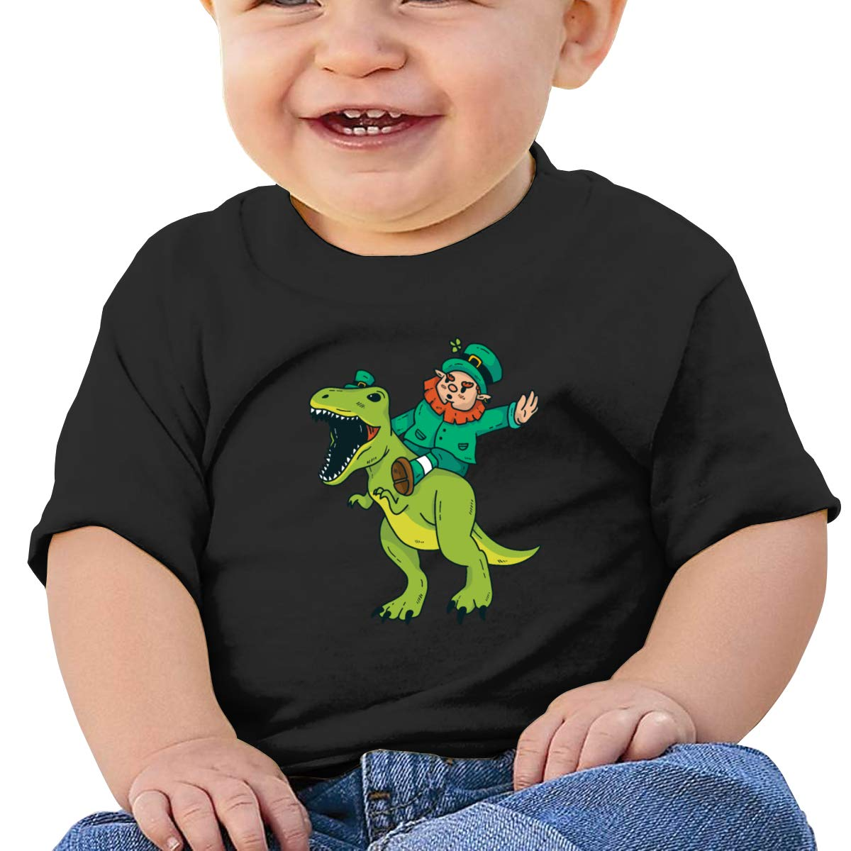 Patricks Day Dinosaur Short Sleeve Shirt Baby Girl Qiop Nee St