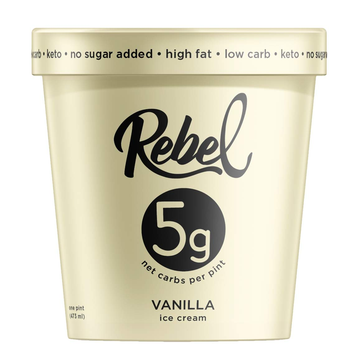 Rebel, Ice Cream Vanilla, 16 Ounce