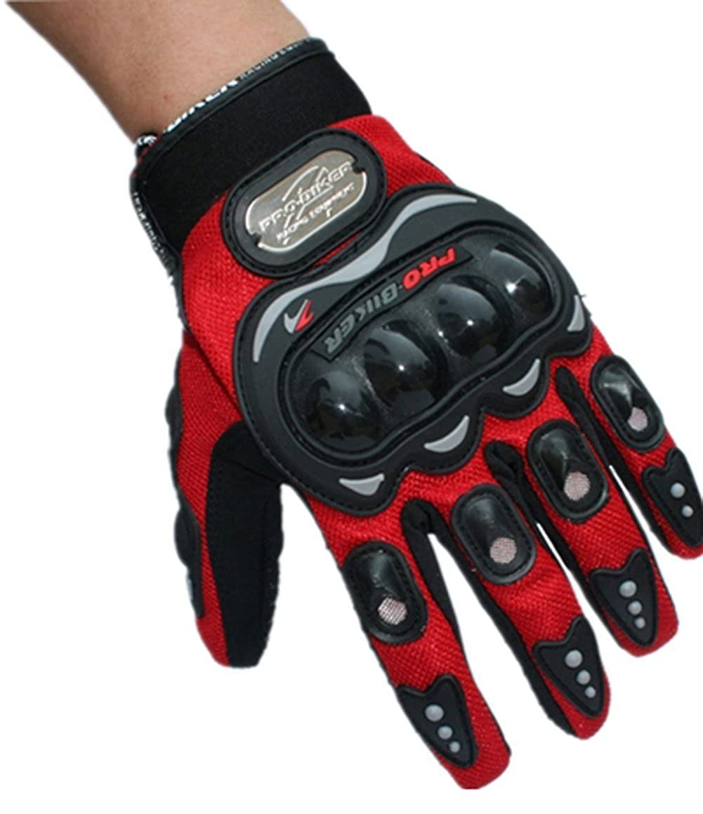 3 Colors Pro-Biker Full Finger Sleeve Protection Motorbike Motorcycle Biker Gloves XIAOLI COLLETION
