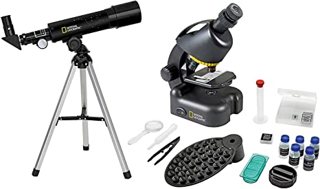 National Geographic Set Telescopio-Microscopio con Soporte para ...