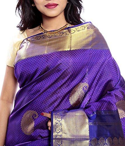 Mandakini — Indian Women's Kanchipuram - Handloom - Pure Silk Saree (Magenta ) (MK241) by Mandakini (Image #2)