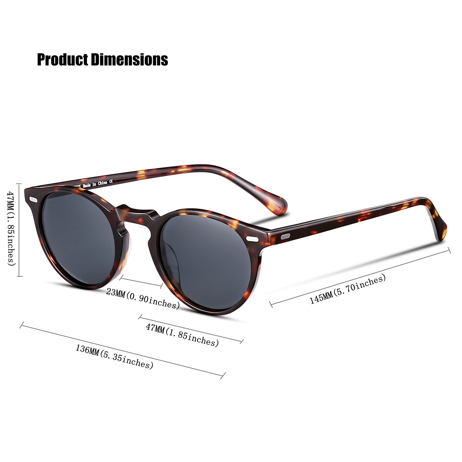 2a180281b13 Amazon.com  CANYEUX Vintage Round Polarized Sunglasses for Women and ...