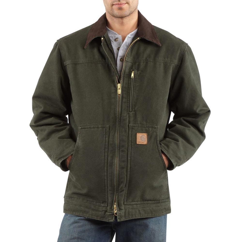 Carhartt Men's Ridge Coat Sherpa Lined Sandstone,Moss,XX-Large