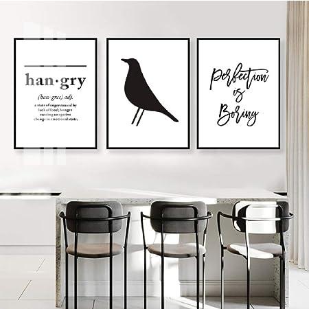 Letras hambrientas minimalistas Pinturas en lienzo Citas en ...