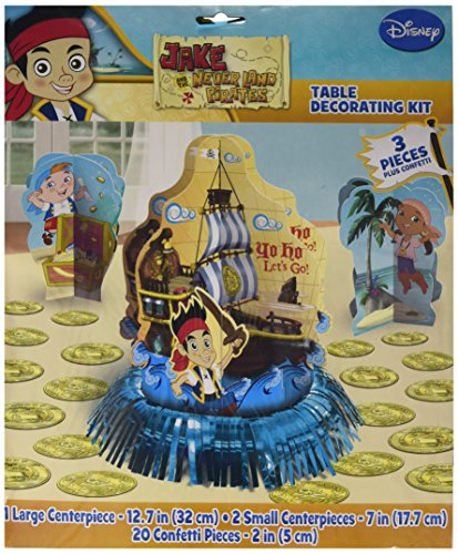 Amscan Disney Jake & The Never L& Pirates Birthday Assorted Table Decorating Kit Pack 23 Multi 12 3/5