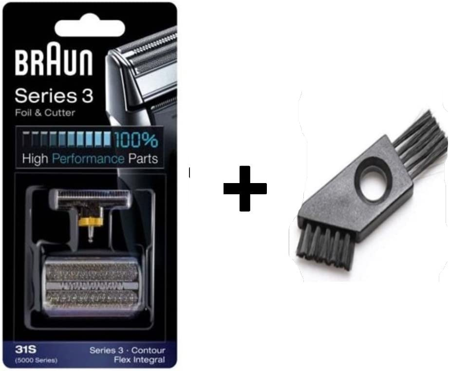 Combi 31S Foil and Cutter Shaver Replacement Cassette Cartridge for Series 3 (Older Generation) Contour Flex XP Flex Integral with Cleaning Brush (31S)