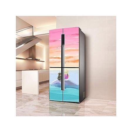 Peel Stick 3D Nevera Pegatinas Impermeable Extraíble Refrigerador ...