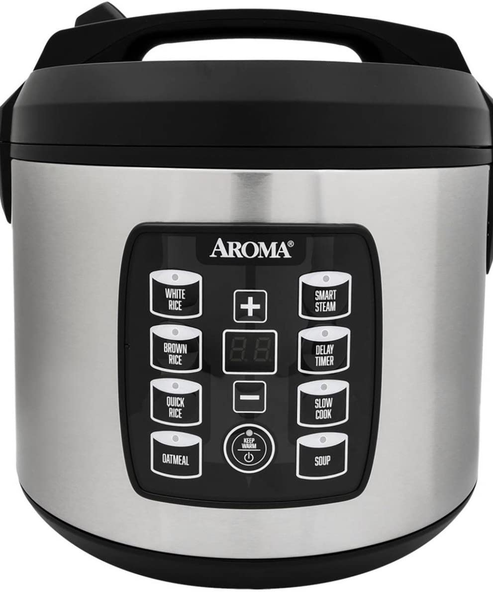 Aroma Digital Rice Cooker - Stainless Steel (20 cups) ARC-1030SB
