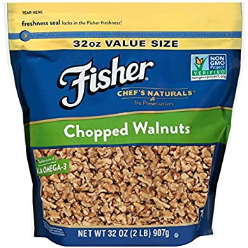 FISHER Chef's Naturals Chopped Walnuts, 32 Ounce