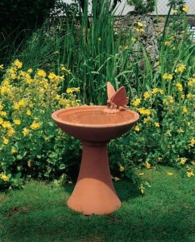 Bebedero para pájaros árbol colorliving (pintado a mano) mecanismo para jardín fabricado en hormigón piedra figuras de jardín-estatua de piedra: Amazon.es: Hogar