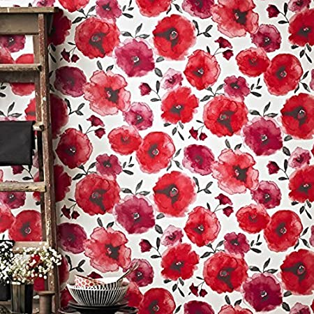 Graham Brown   Superfresco Easy Poppies Wallpaper Red By Graham And Brown Amazon Co Uk Diy Tools