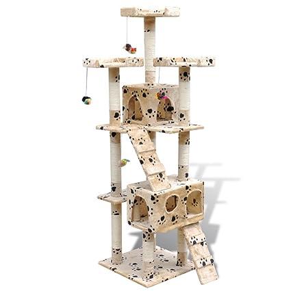 Festnight Gatos Juguete Poste de Rascador Torre del Gato