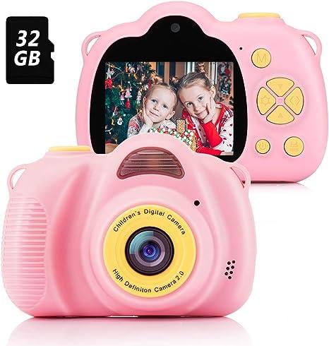 Fede Cámara para Niños con Tarjeta TF 32GB,Cámara Digitale Selfie ...