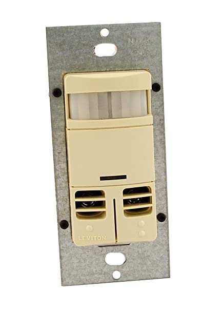 Leviton OSSMD-GDI Dual-Relay, No Neutral, Multi-Technology Wall Switch  Sensor, 2400 sq  ft  Major Motion Coverage, 400 sq  ft  Minor Motion  Coverage,