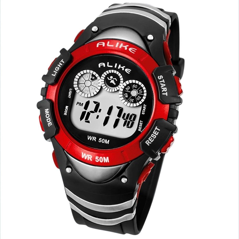 ALIKEメンズスポーツランニング登山水泳スタイルデジタル表示Diver Watch Quartz Movement 1# B0716S2S831#
