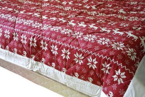 Northern Nights 400TC All Seasons Reversible Premium Blanket Christmas Raindeer Snowflake Design - Northern Striped Blanket