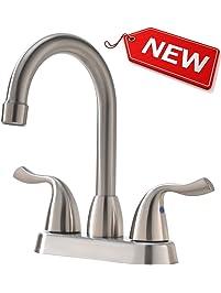 three piece bathroom faucet. Hotis Commercial  Bathroom Sink Faucets Amazon com Kitchen Bath Fixtures