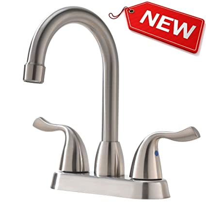 Hotis Commercial Two Handle Stainless Steel Brushed Nickel Bathroom ...