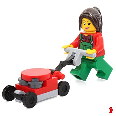 LEGO City MiniFigure - Lawn Worker (with Green Overalls) 60134: Toys & Games
