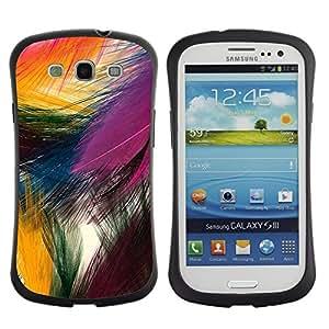 "Hypernova Slim Fit Dual Barniz Protector Caso Case Funda Para SAMSUNG Galaxy S3 III / i9300 / i747 [Festiva Pascua colorido pájaro de la naturaleza""]"