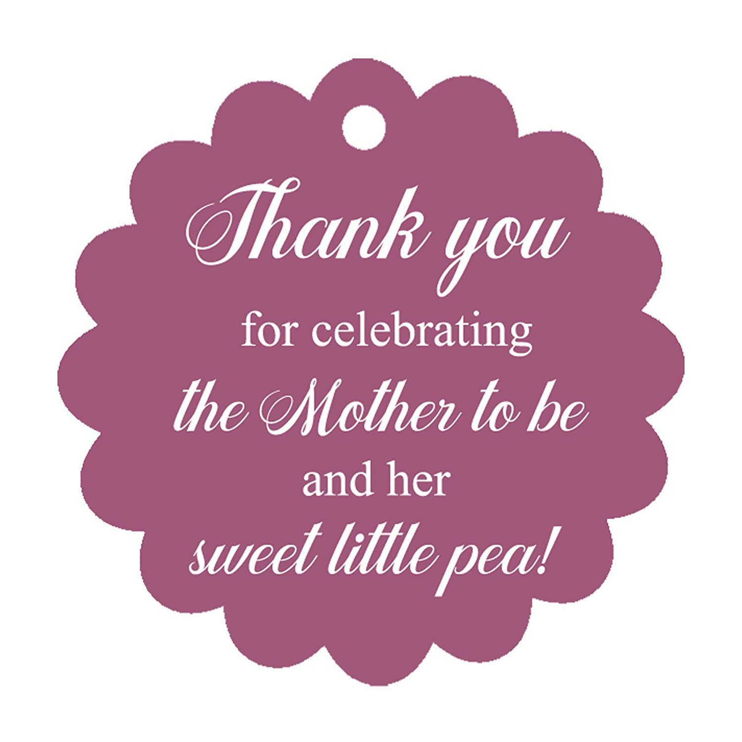 100 PCS Baby Shower Favors Gift Paper Hang Tags /Thank You For Celebrating The Mother To Be /& Her Sweet Little Pea!