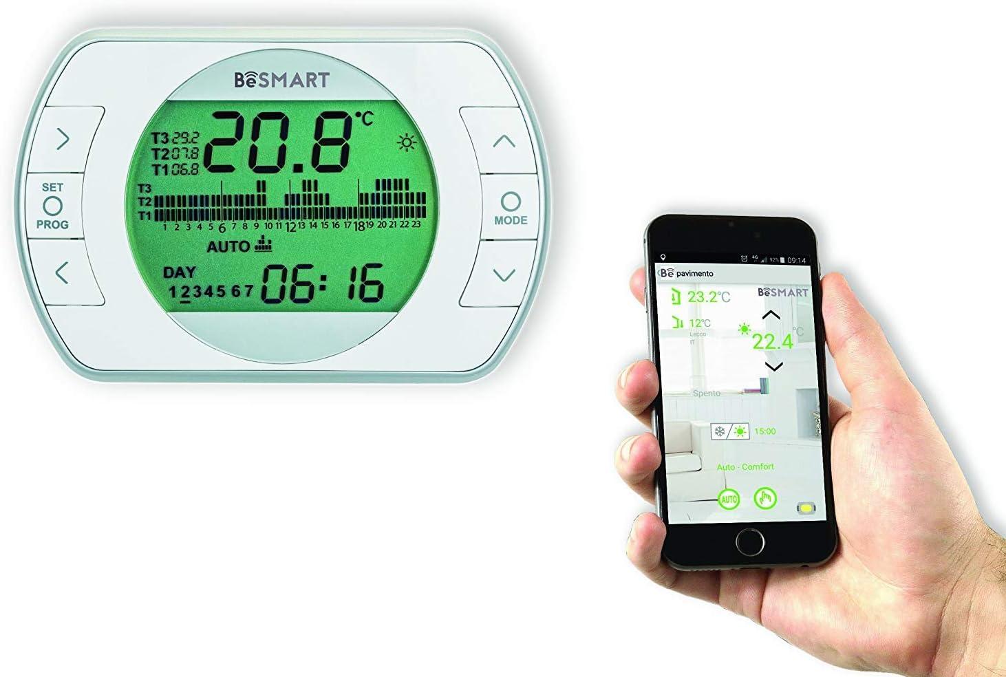 BeSmart Termostato WiFi para Smartphone retroiluminada