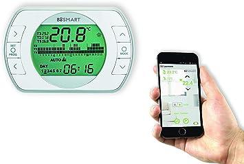 BeSmart Termostato WiFi para Smartphone retroiluminada: Amazon ...