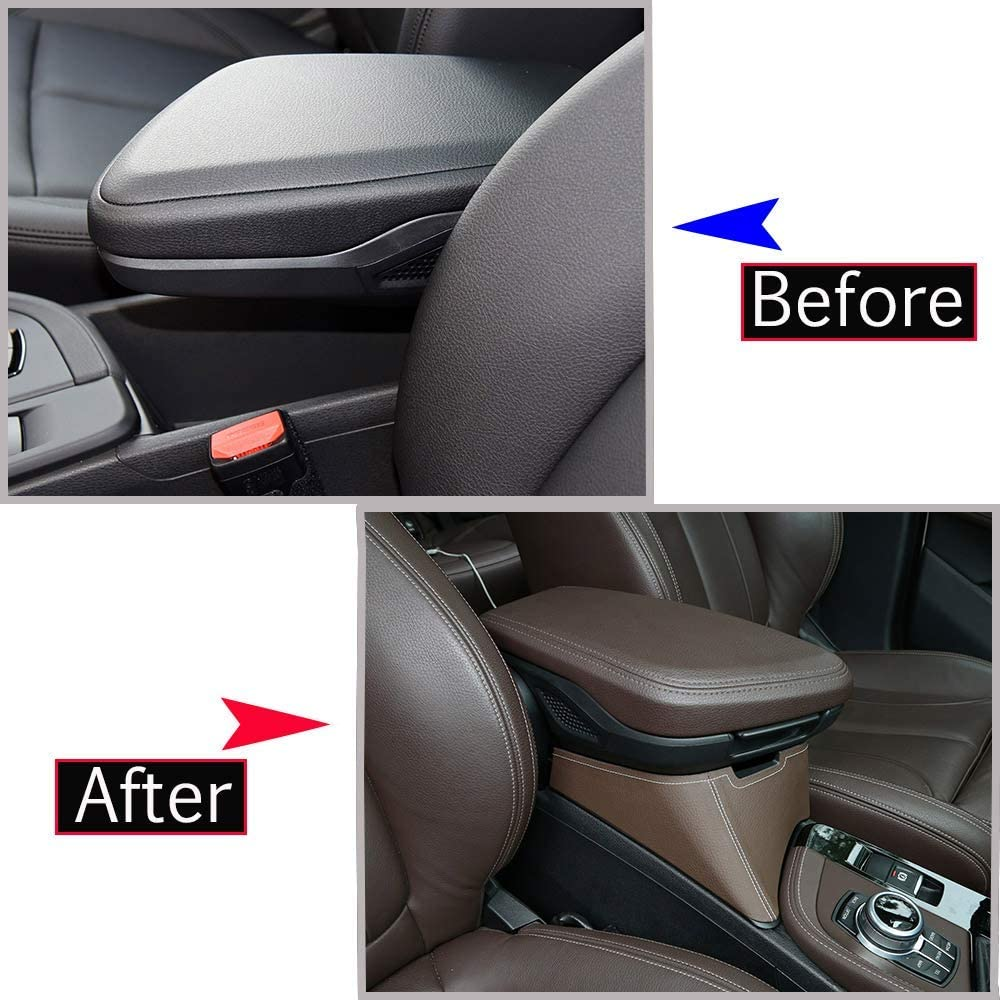 0054046448685 YIWANG Car Center Armrest Storage Box Container Tray for BMW X1 F48 2016-2019 Black for BMW X2 F47 2018 2019 Left Hand Drive