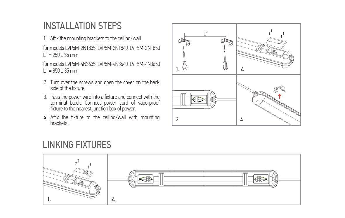 12 Pack Llt Led Garage Vapor Proof Fixture 4ft 36w 5000k Ip66 Wiring Diagram Power At Daylight Only 3059 Per