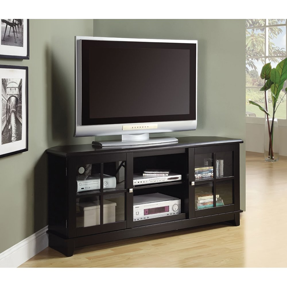 60 inch corner tv stand - Amazon Com Monarch Specialties Veneer Top Length Tv Console 60 Inch Black Kitchen Dining