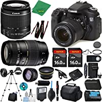 Canon EOS 70D Camera + 18-55mm IS STM + Tamron 70-300mm AF + 2pcs 16GB Memory + Case + Reader + Tripod + ZeeTech Starter Set + Wide Angle + Tele + Flash + Battery + Charger