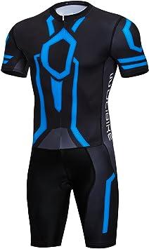 Combinaison Triathlon Femme Tenue Trifonction Manches Courtes S/échage Rapide per VTT Sports de Plein Air
