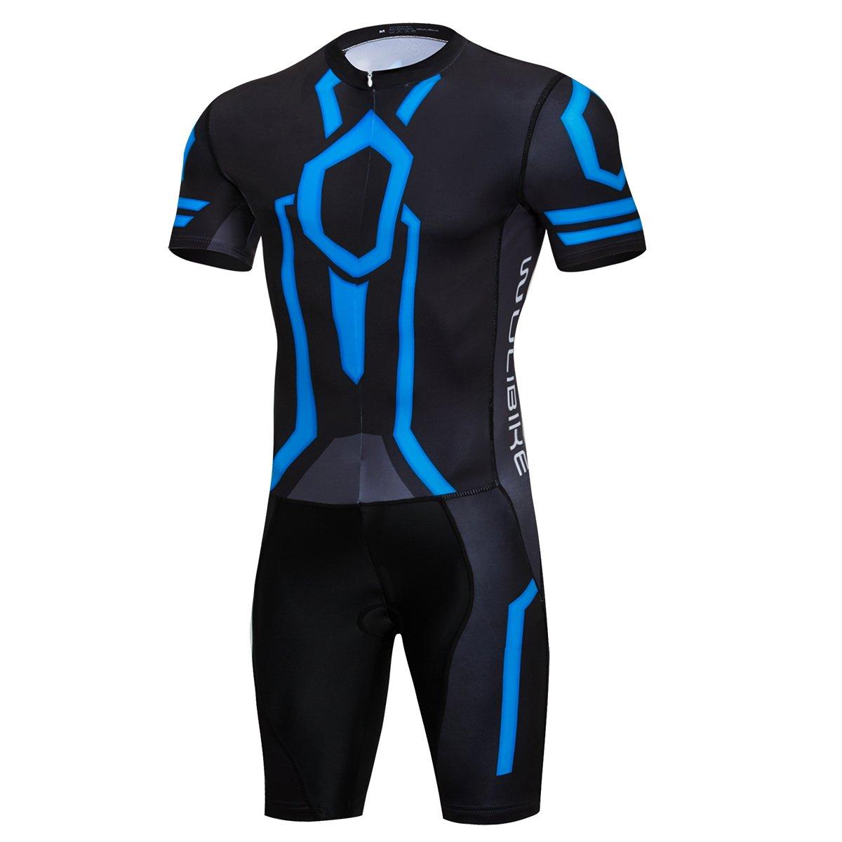 Mens Tron Cycling Jersey Set Bicycle Shirt and Bib Shorts Kit Sports Trisuit Pink Lo.gas