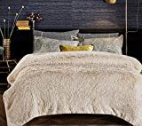Chanasya Shaggy Longfur Faux Fur Throw Blanket - Fuzzy Lightweight Plush Sherpa Fleece Microfiber Blanket - for Couch Bed Chair Photo Props - Twin - Cream