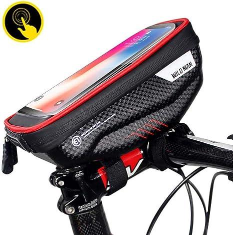 GsMeety Bolsa Bicicleta Manillar, Soporte Bolsa Táctil Bicicleta Impermeable para iPhone, Samsung y Otros Smartphones de hasta 6,5: Amazon.es: Deportes y aire libre
