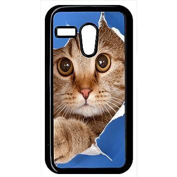 Carcasa Motorola Moto G gato ojo: Amazon.es: Electrónica