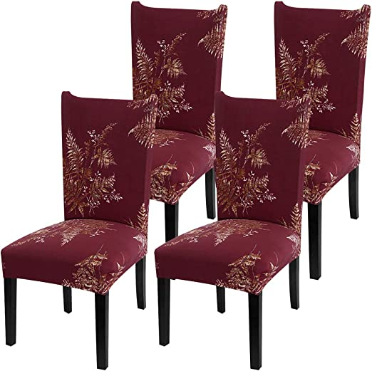 Fuloon Chair Cover Stretch Removable Washable Slipcovers for Hotel Dining...