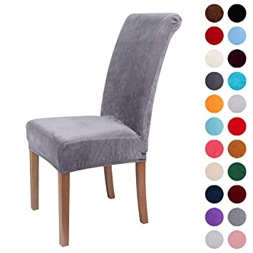 Amazon Com Colorxy Velvet Spandex Fabric Stretch Dining Room Chair