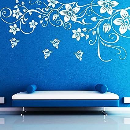 fc9be467ec8 Buy Decor Kafe  Butterfly Floral  Wall Sticker (PVC Vinyl Film ...