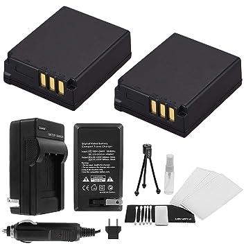 Amazon.com: 2-Pack CGA-S007E High-Capacity Baterías de ...