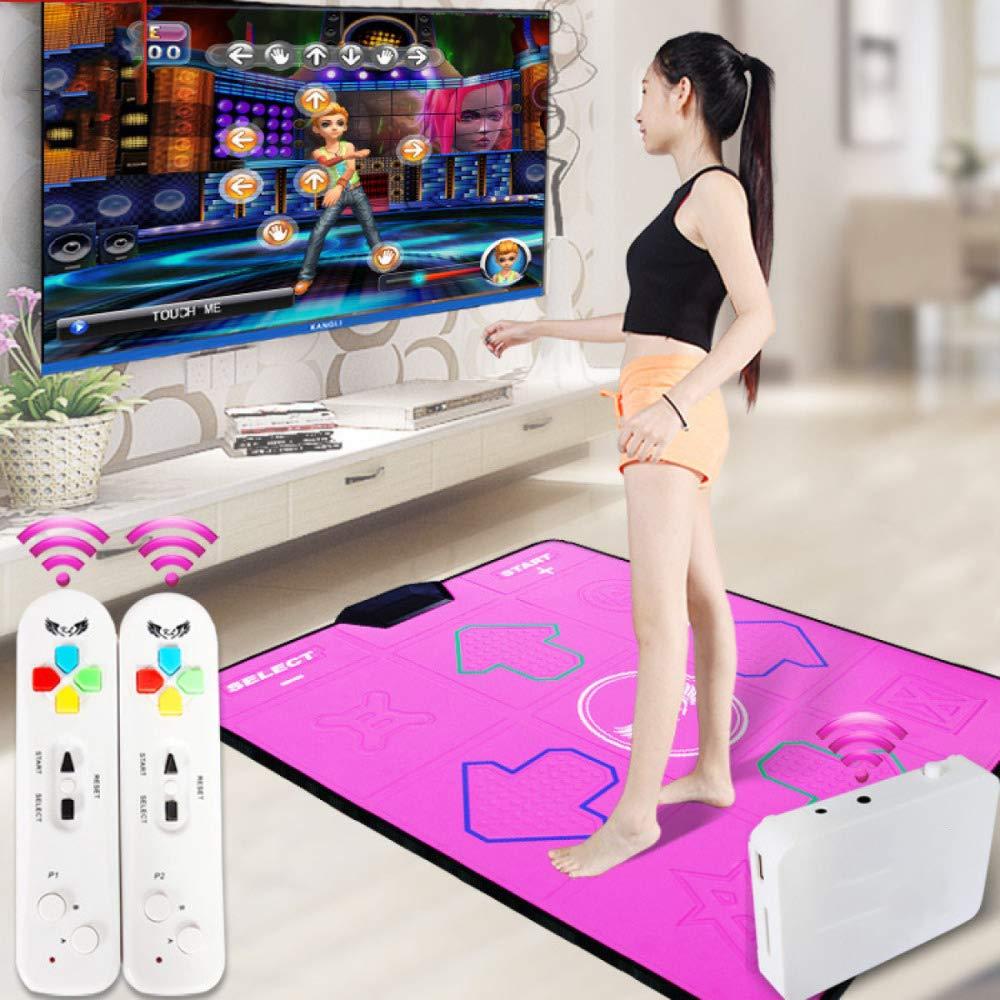 QXMEI Wireless Single Dance Mat TV Computer Dual-use Massage Slimming Dance Machine 9381CM,Pink by QXMEI (Image #2)