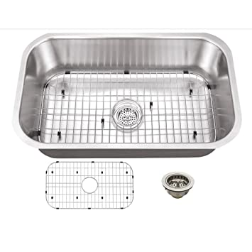 schon scsb301816 undermount 16 gauge single bowl sink 30 inch by 18 inch schon scsb301816 undermount 16 gauge single bowl sink 30 inch by      rh   amazon com