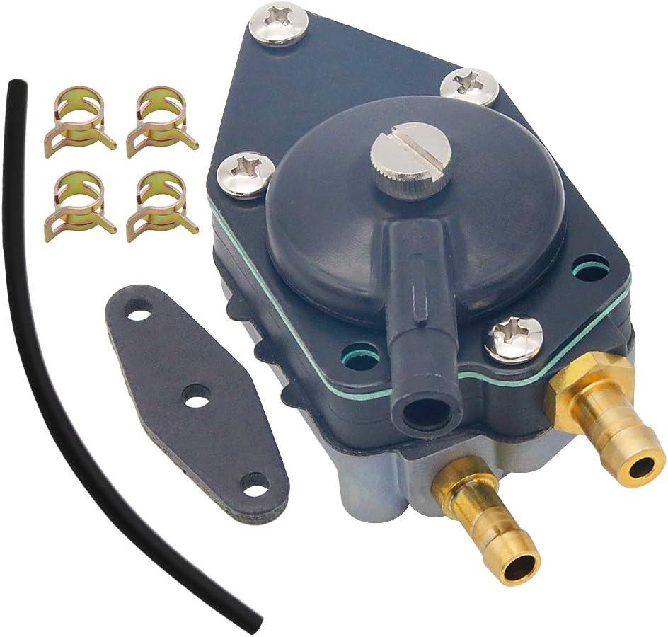 438559 Fuel Pump for Johnson Evinrude 433390 Fuel Pump Fits Evinrude 385784 438559 25 35 50 65 70 75 85 88 90 100 105 115 125 135 140 HP 140-155-175-185-200-235 HP Crosflow Fuel Pump