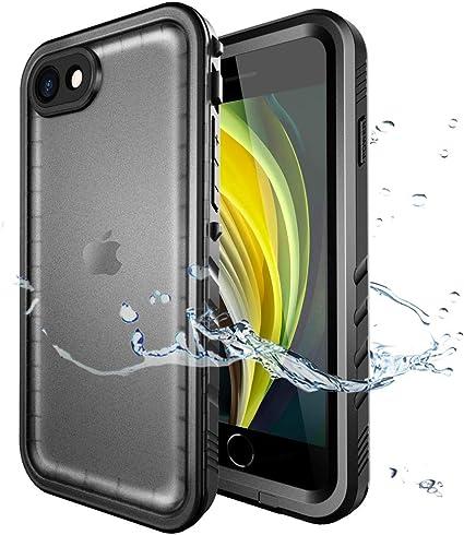 SPORTLINK Custodia Impermeabile per iPhone SE 2020, iPhone 7/ iPhone 8 Waterproof Case, IP68 Certificato Waterproof Cover Slim Subacquea Caso Full ...