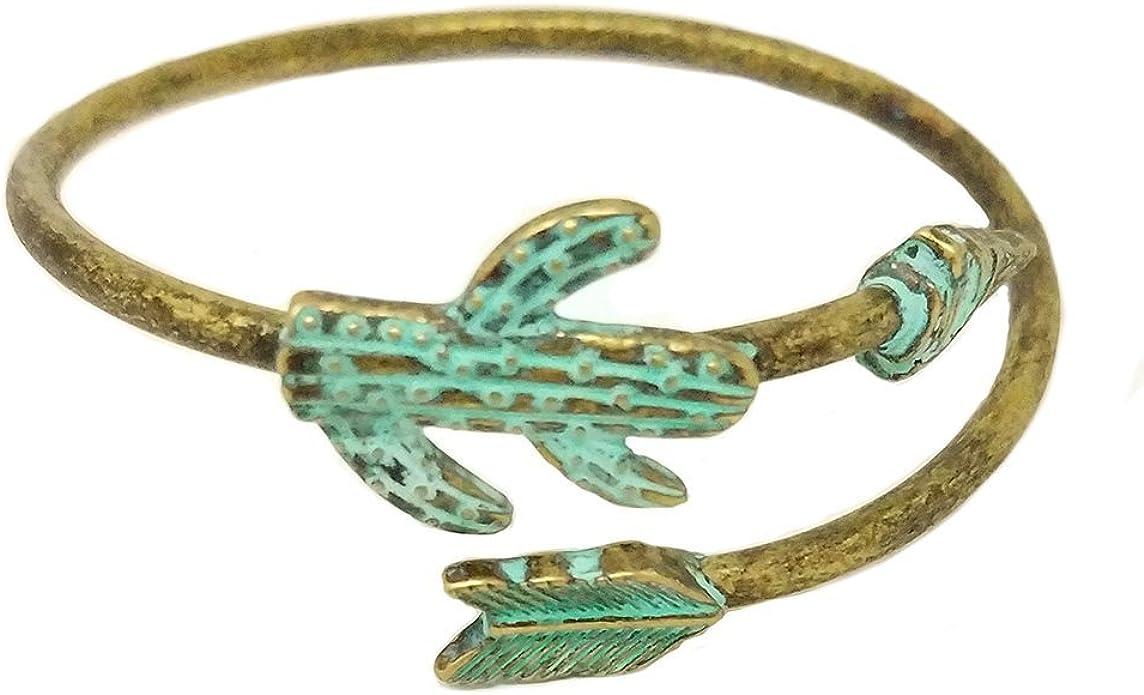 Best Fashion Jewelry Gift White Love Arrow Bangle Bracelet | Double Arrow Head Easy Open Wire Bracelet Bangle