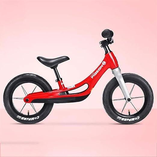 JLASD Bicicleta Rueda Trasera Hijos La Bici por 2-8 Año Bicicleta De Equilibrio De Peso Ligero De La Bicicleta Bici Vieja del Niño con El Asiento Ajustable (Color : Red): Amazon.es: Deportes
