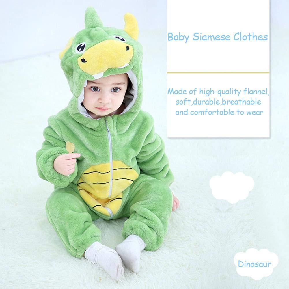 Kids 3D Rhino cappuccio tutto in Uno Pigiama Ragazzi Animale Costume Nightwear