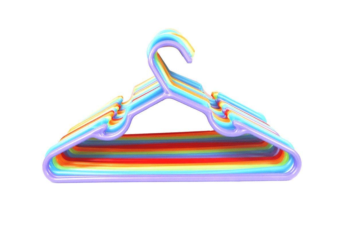 30pc Children Plastic Hanger Assorted Colors, 11'' Wide