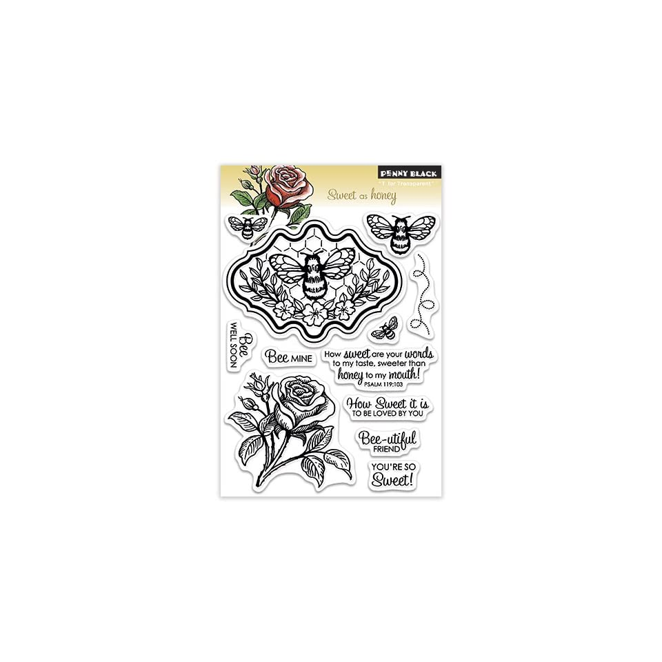 Penny Black 30 145 Clear Stamp, Sweet as Honey